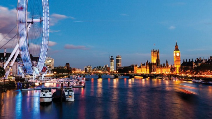 Foto de Londres com London Eye e Big Ben