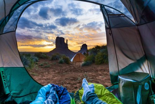 Camping no Monument Valley