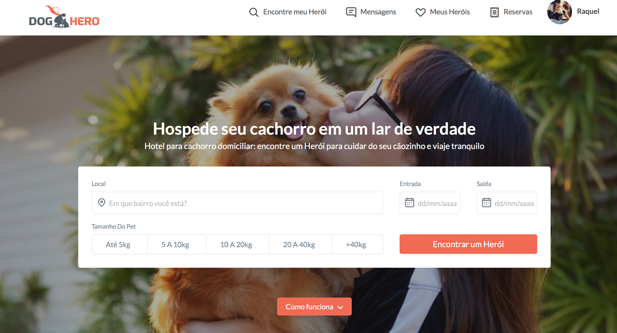 imagem do site da dog hero