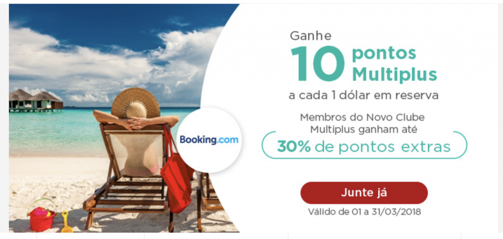 parceiro multiplus: booking