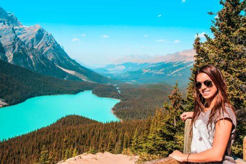 peyto lake nas montanhas rochosas canadenses