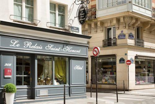 fachada do hotel em Paris