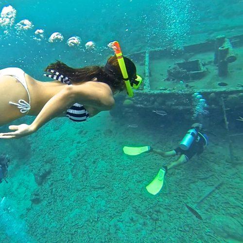 o que fazer em curaçao: snorkel no tugboat