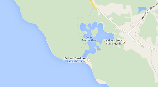 mapa Santa Martha Baai
