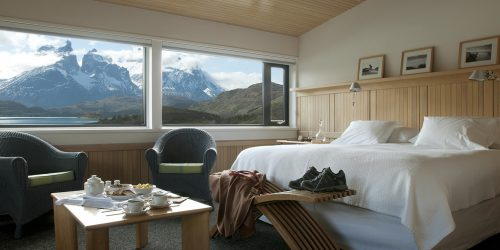 quarto do hotel explora em torres del Paine