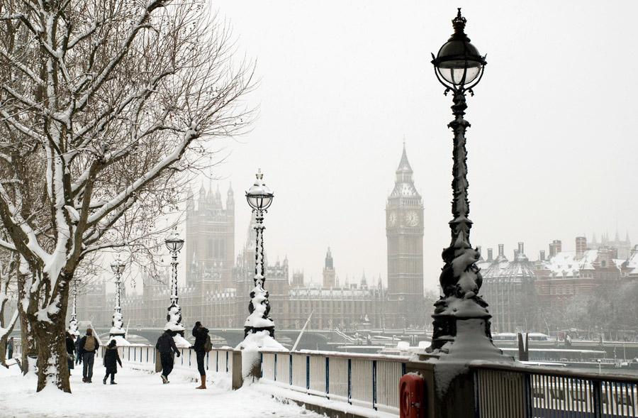 Foto de londres com neve
