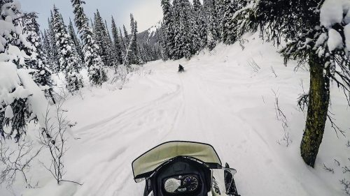 Foto no snowmobile