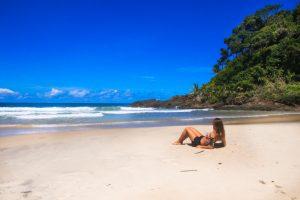 descansando na praia do Itacare Eco resort