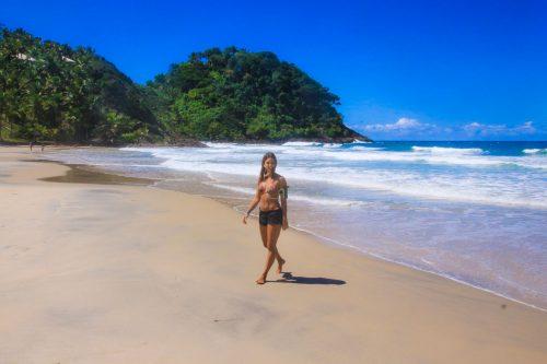 Na praia de São José