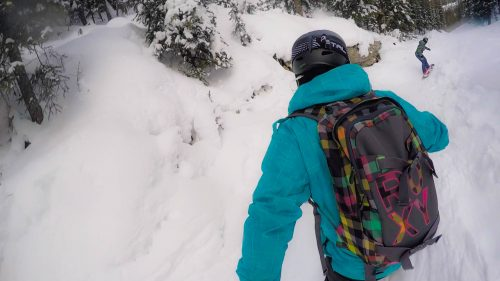 esquiando no canada