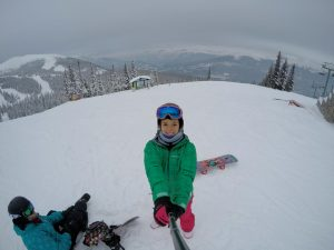 neve em lake liuise estação de ski