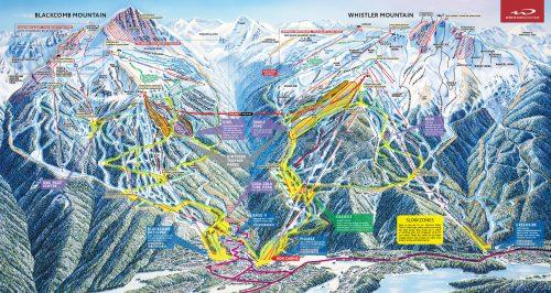 mapa de postas de whistler blackcomb