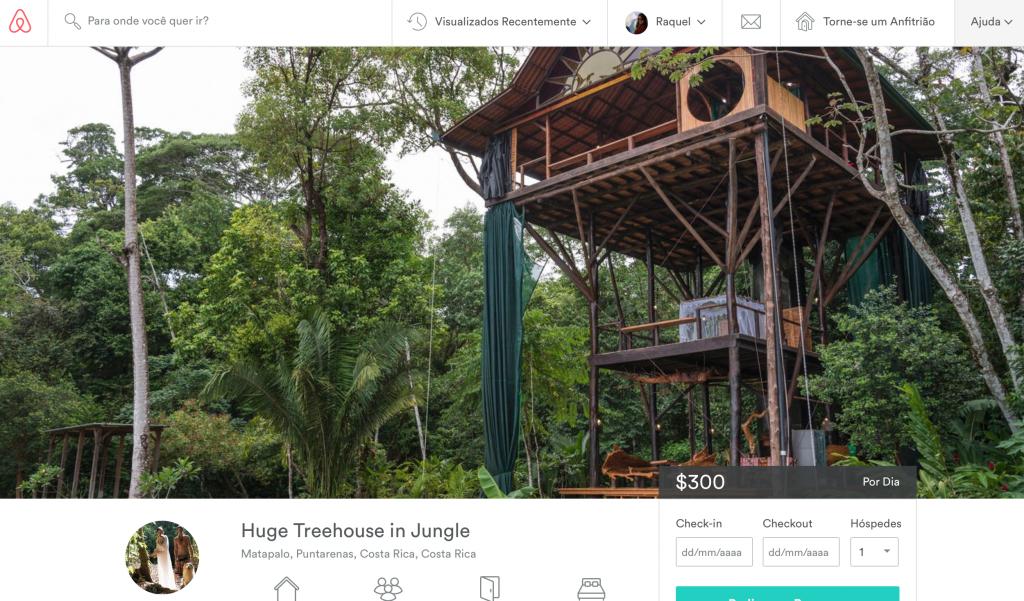 Casa na árvore para aluguel no airbnb
