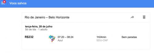 Google Flights Salvar Vôos