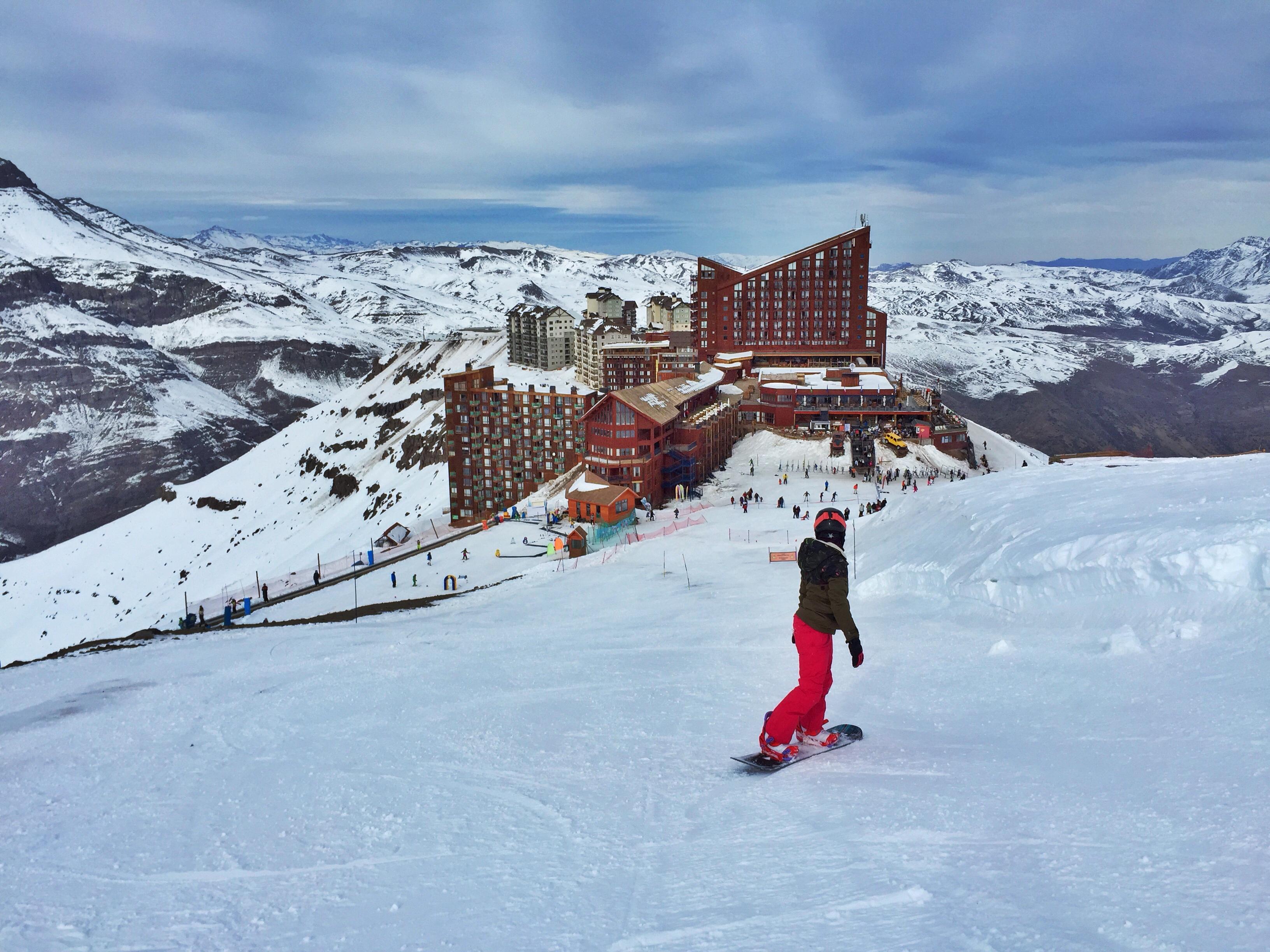 sbowboard em valle nevado