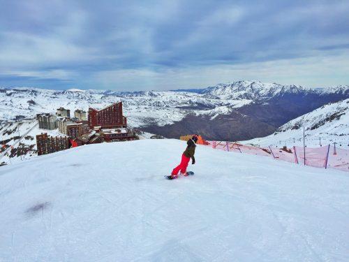 snowboard em valle nevado