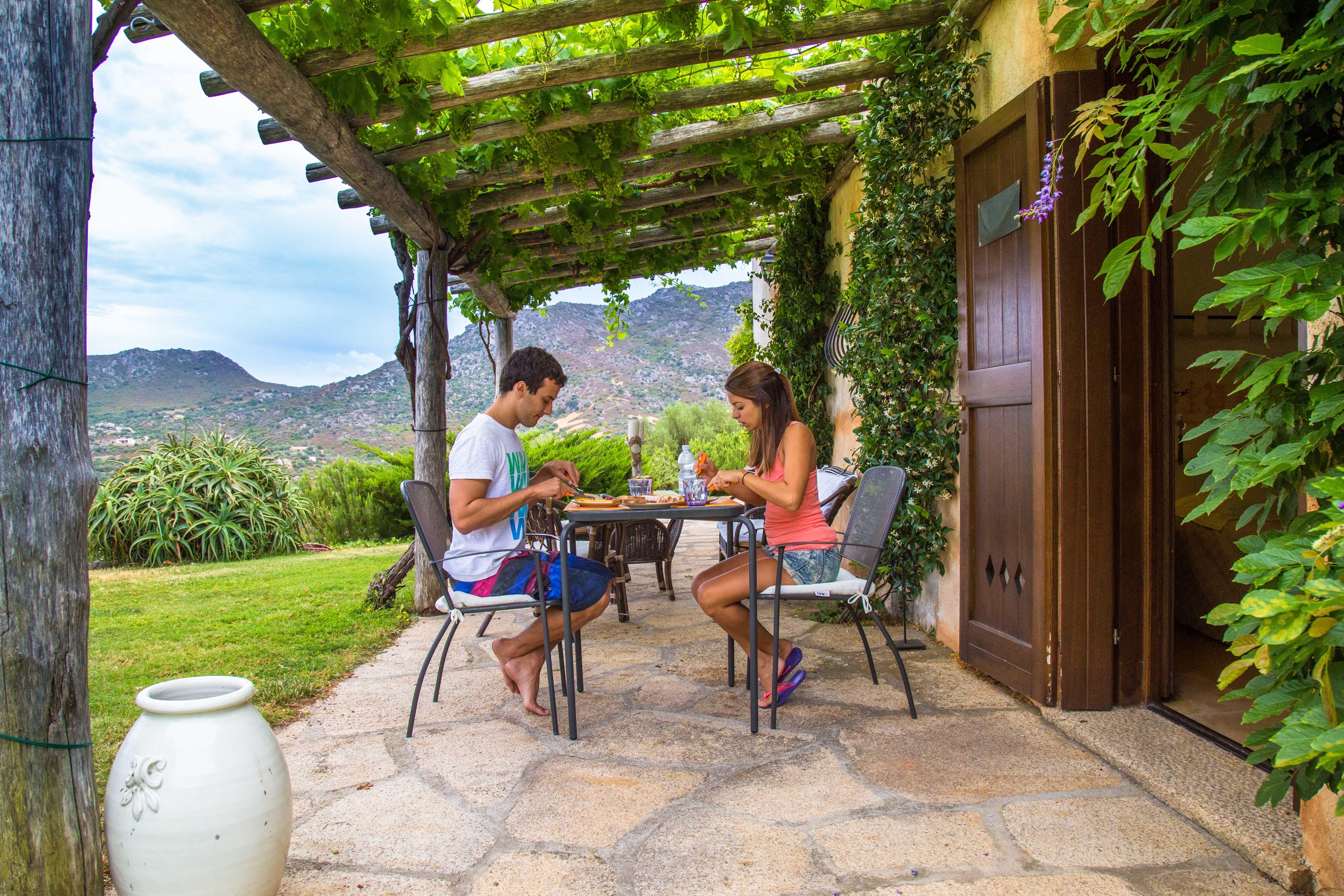 Casa alugada na Sardenha - café da manhã
