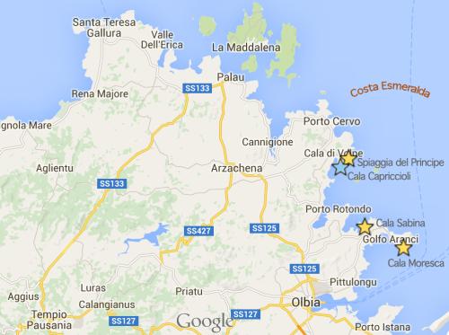 Mapa da Costa Esmeralda