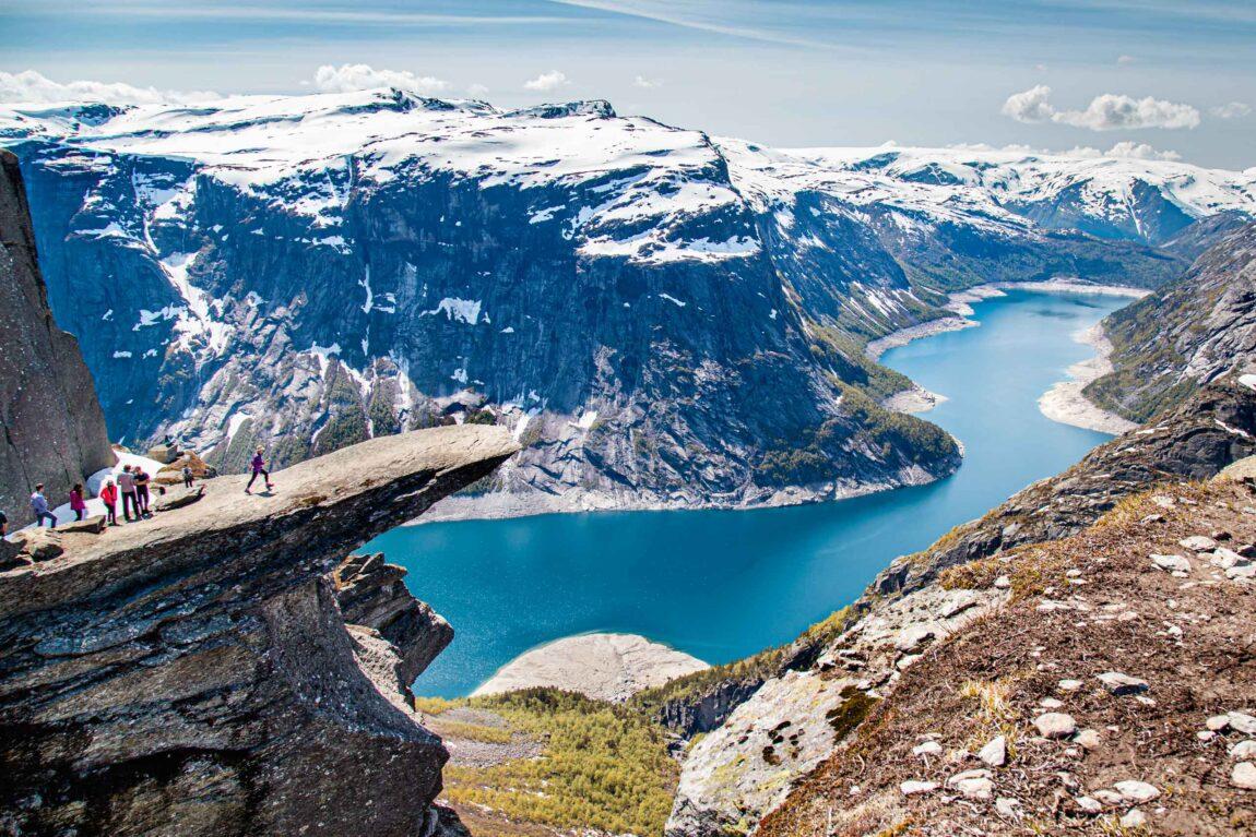 Visual de Trolltunga, na Noruega