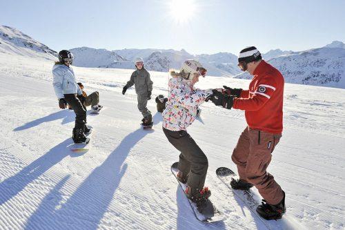 Aula de snowboard no Valle nevado