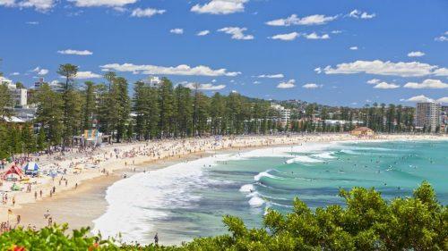 Praia em Sidney na Australia