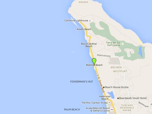 Mapa Fisherman's Hut em Aruba