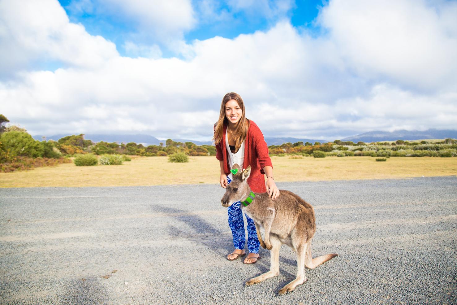 Canguru e eu na Austrália