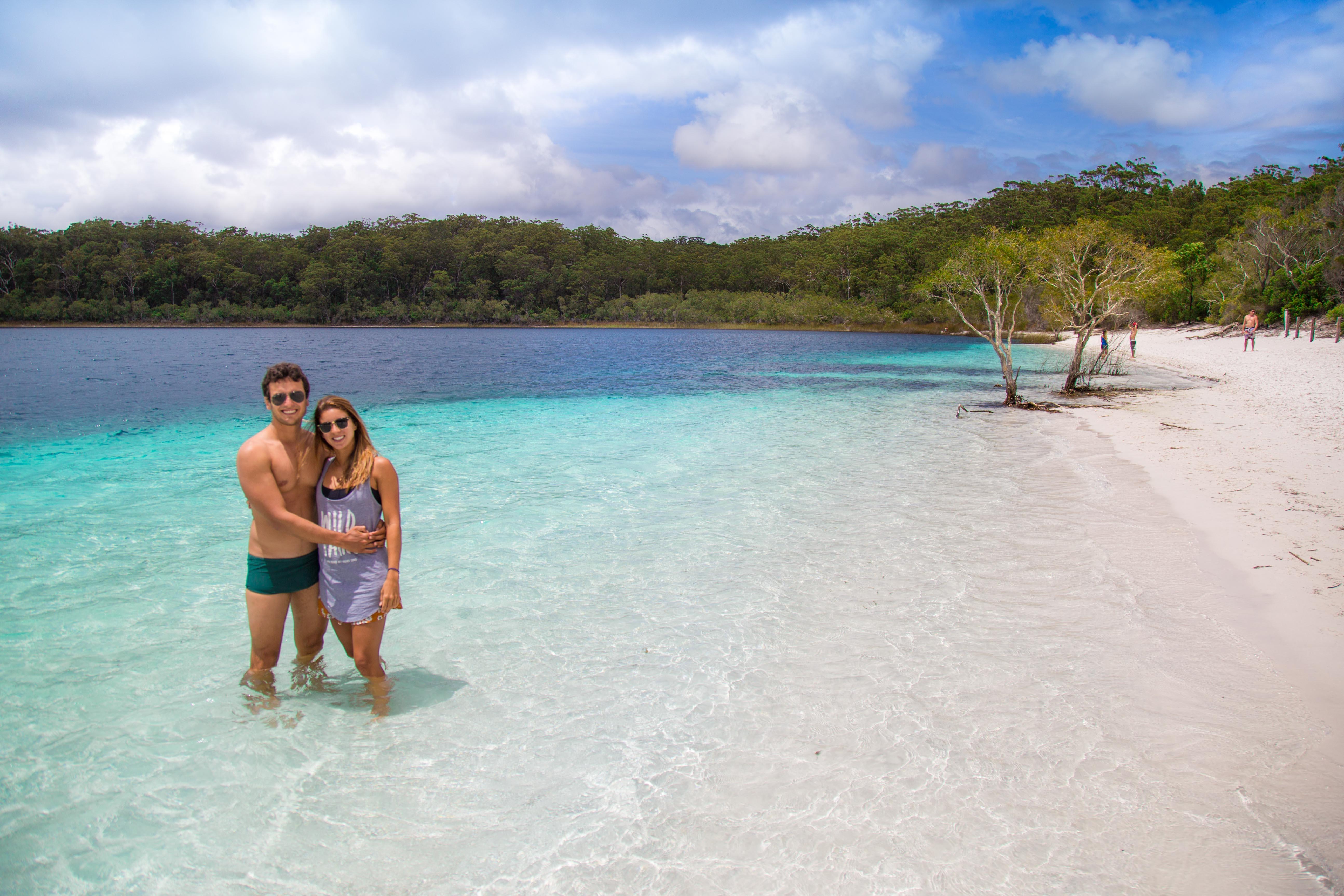 Nós dois em Fraser Island