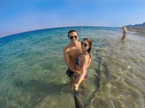 Praia em Eilat, Israel