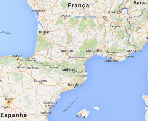 localização de andorra no mapa