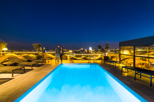 Roof top do hotel Majestic e Barcelona