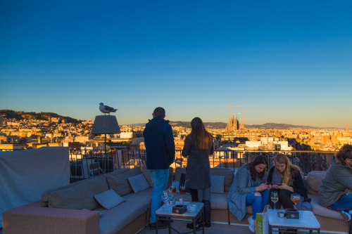 roof top do majestic hotel em barcelona