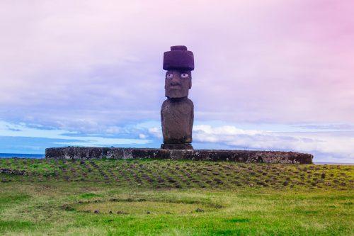 Moai com olhos - Rapa Nui