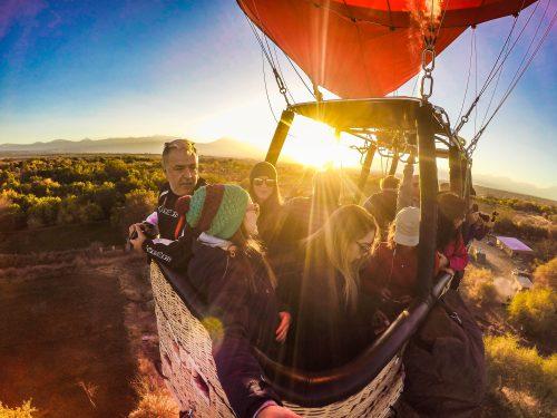 Vôo de balão no Atacama