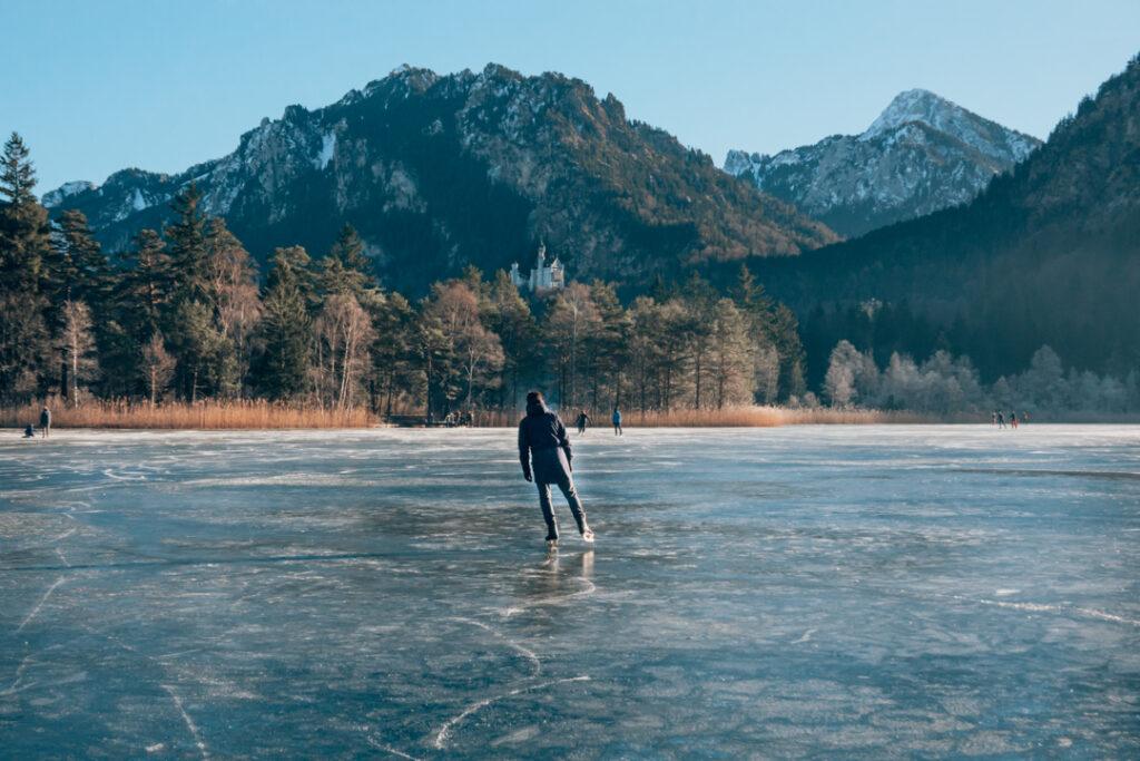 patinando no schwansee
