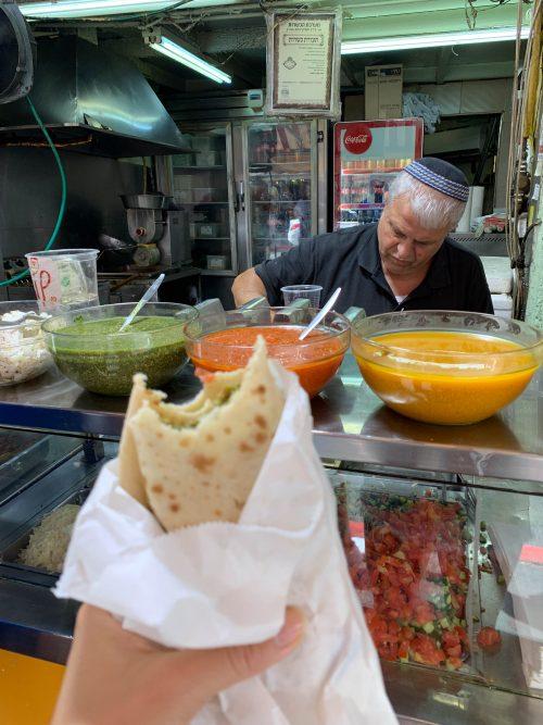 Jerusalem em israel, comida