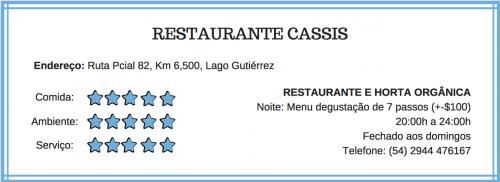 Informações sobre o restaurante Cassis em Bariloche