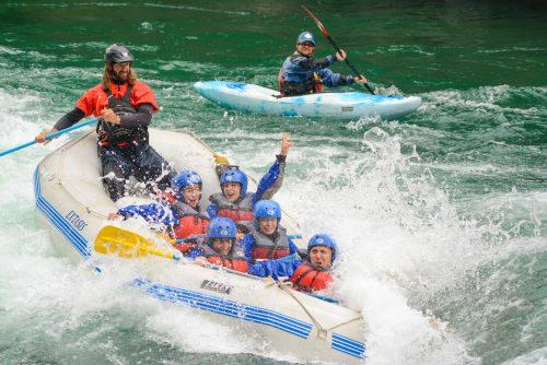 diversão no Caiaque em Bariloche