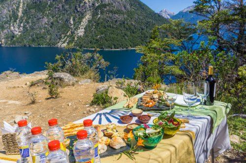 Almoço llao llao durante a triiha em Bariloche