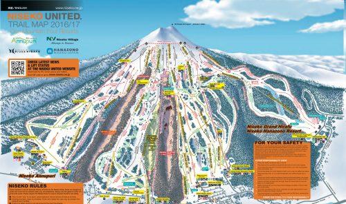 Mapa de Niseko - estações de ski