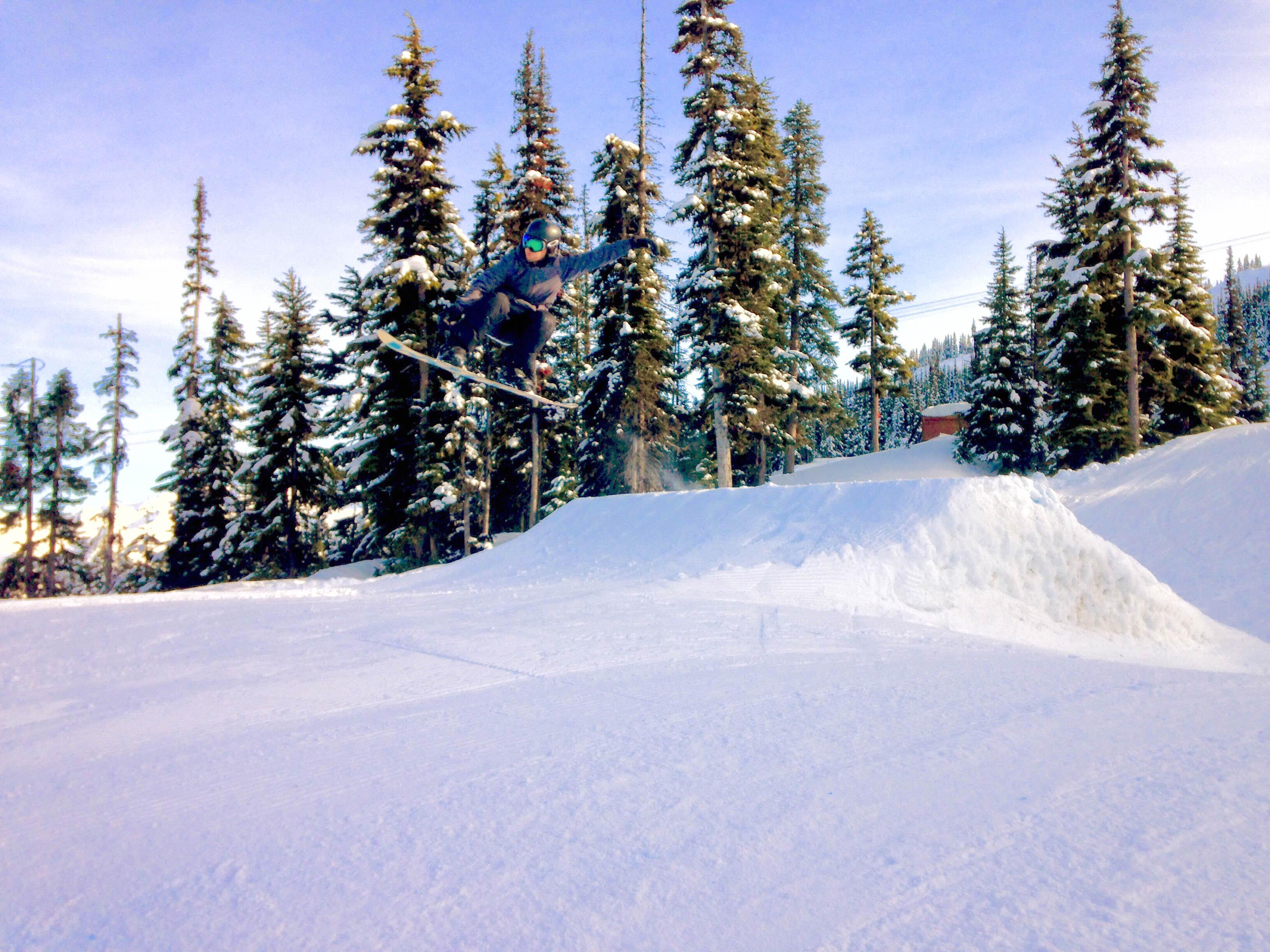 Foto de um salto em Whistler