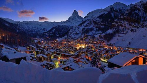 Zermatt, suíça, no inverno