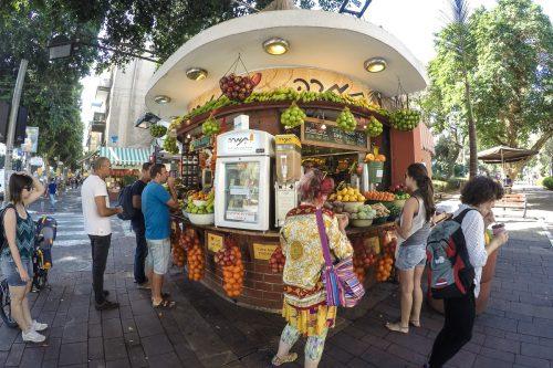 quiosque de frutas em tel aviv