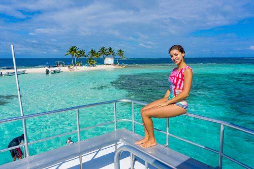 ilha ponto de mergulho em Belize
