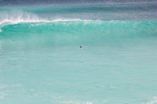 Onda em Dreamland em Bali
