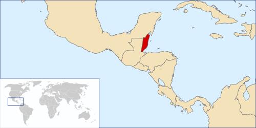 Localização de Belize no mapa