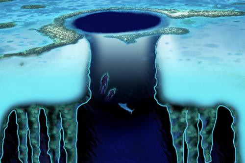 Imagem ilustrando como é o Blue hoje de Belize