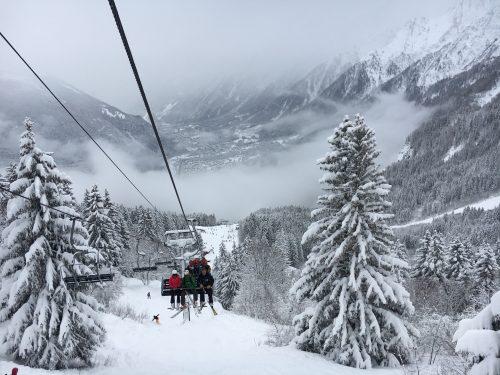 estação de ski em chamonix
