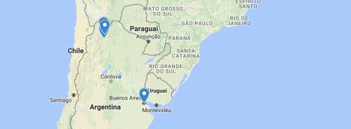 norte da argentina mapa
