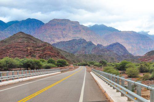 estrada quebrada de las conchas no norte da argentina